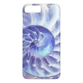 紫色のオウムガイの芸術 iPhone 8 PLUS/7 PLUSケース