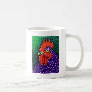 紫色のオンドリ コーヒーマグカップ