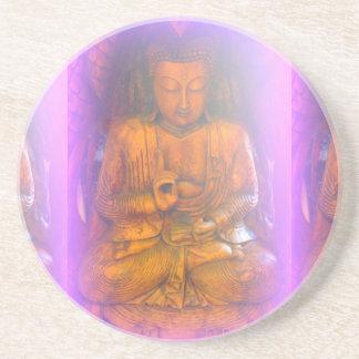 紫色のオーラの仏の飲み物のコースター コースター