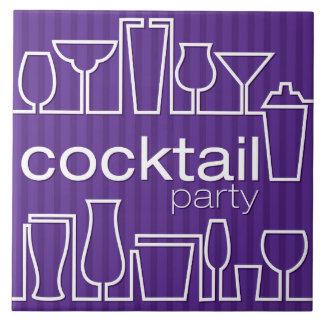 紫色のカクテルパーティー タイル