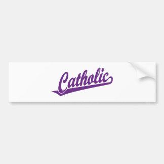紫色のカトリック教の原稿のロゴ バンパーステッカー