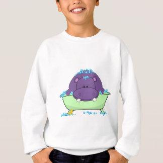 紫色のカバを浸すこと スウェットシャツ