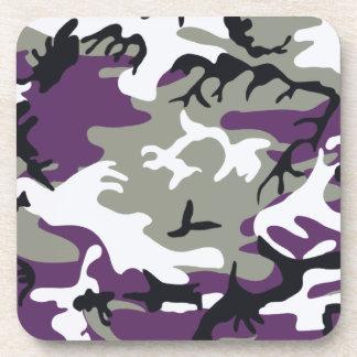 紫色のカムフラージュのコルクのコースター コースター