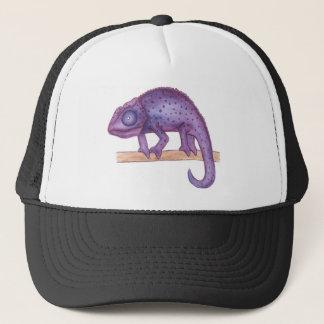 紫色のカメレオン キャップ
