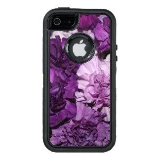 紫色のカーネーションの花 オッターボックスディフェンダーiPhoneケース
