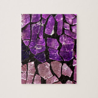 紫色のガラス片 ジグソーパズル