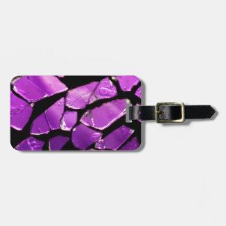 紫色のガラス片 ラゲッジタグ