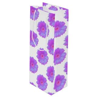 紫色のガーベラのデイジー ワインギフトバッグ