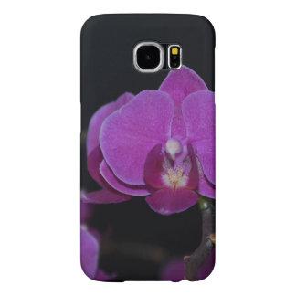 紫色のガ蘭のSamsungの銀河系S6の箱 Samsung Galaxy S6 ケース