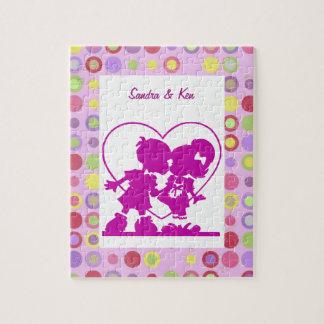 紫色のキスをするな子供のパズル ジグソーパズル
