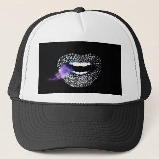 紫色のキス キャップ