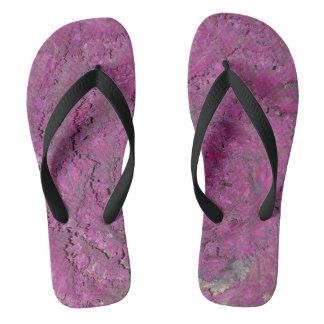 紫色のキャベツの写真とのビーチサンダル ビーチサンダル