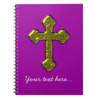 紫色のキリスト教のカスタマイズ可能 ノートブック