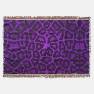 紫色のキリンのアニマルプリント スローブランケット