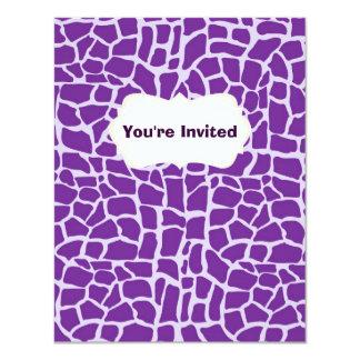 紫色のキリンパターンモザイク カード