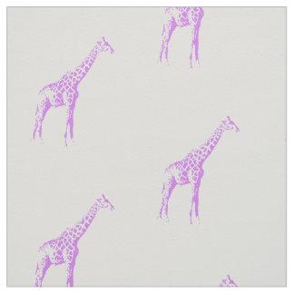 紫色のキリン ファブリック