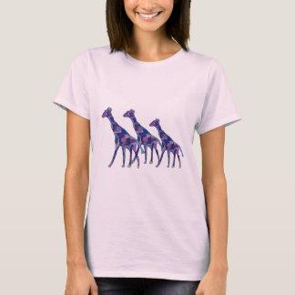紫色のキリン Tシャツ