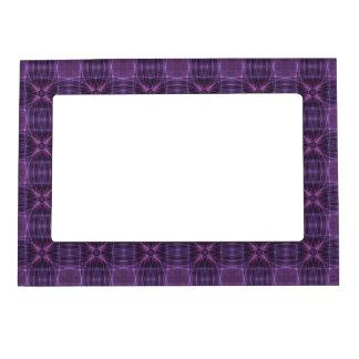紫色のキルトパターン マグネットフレーム