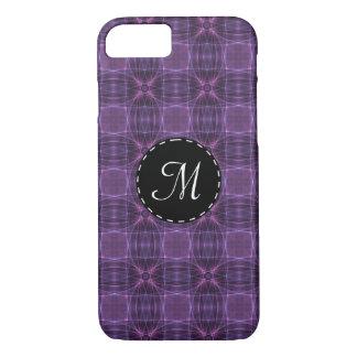 紫色のキルトパターン iPhone 8/7ケース