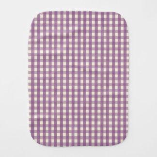 紫色のギンガムの国のラベンダーのプレッピーな格子縞 バープクロス