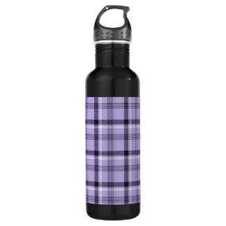 紫色のギンガムの格子縞 ウォーターボトル