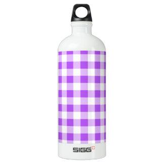 紫色のギンガムパターン ウォーターボトル