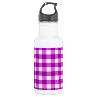 紫色のギンガム ウォーターボトル