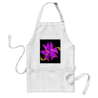 紫色のクリスマスのポインセチアの花 スタンダードエプロン