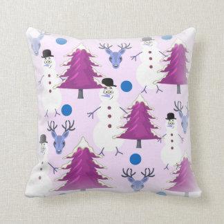 紫色のクリスマスの装飾用クッション クッション