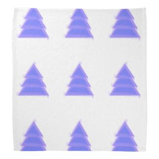 紫色のクリスマスツリー{} バンダナ