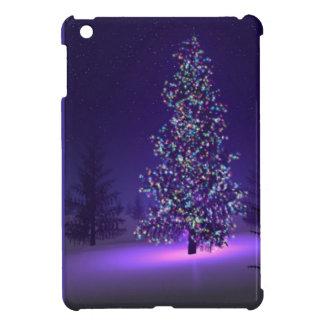 紫色のクリスマスツリー iPad MINIケース