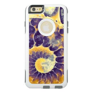 紫色のクリーム色のオウムガイ オッターボックスiPhone 6/6S PLUSケース