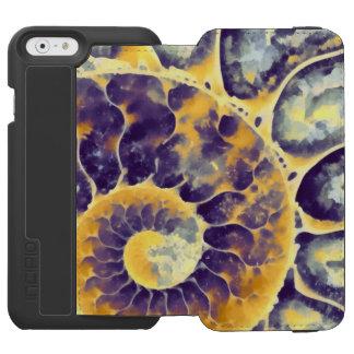 紫色のクリーム色のオウムガイ INCIPIO WATSON™ iPhone 6 財布ケース