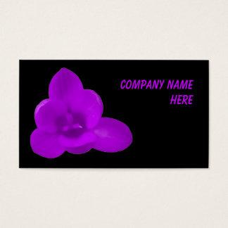 紫色のクロッカスのカスタマイズ可能な名刺 名刺