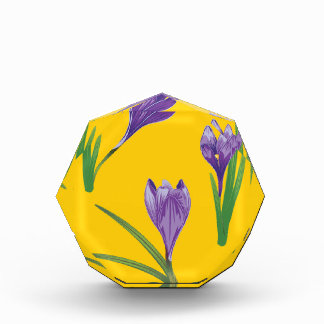 紫色のクロッカスの花4 表彰盾