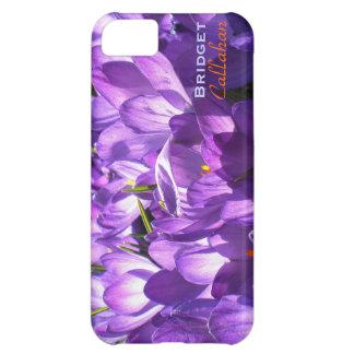 紫色のクロッカスのiPhone 5の場合の*personalize* iPhone5Cケース
