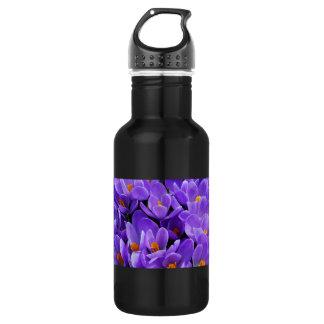 紫色のクロッカス ウォーターボトル