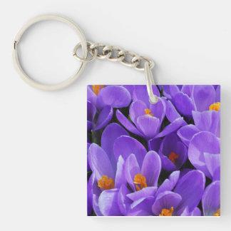 紫色のクロッカス キーホルダー