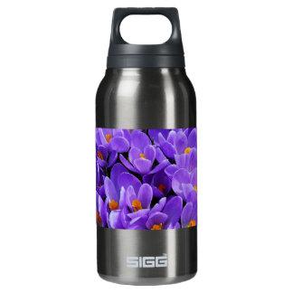 紫色のクロッカス 断熱ウォーターボトル