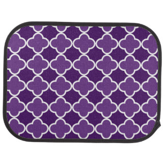紫色のクローバーパターン カーマット