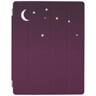 紫色のグラデーションな星明かりの夜空 iPadスマートカバー