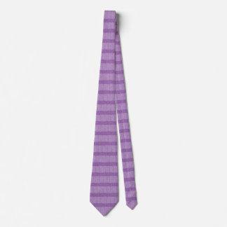 紫色のグリッターのスタイルのシェブロンのニットパターンプリント カスタムネクタイ