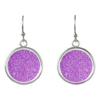 紫色のグリッターのダイヤモンドの贅沢な輝やき イヤリング