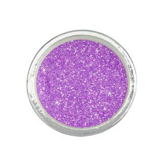 紫色のグリッターのダイヤモンドの贅沢な輝やき リング
