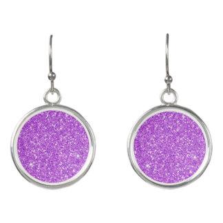 紫色のグリッターのダイヤモンド イヤリング