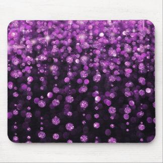 紫色のグリッターのダイヤモンド マウスパッド