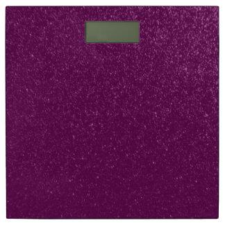 紫色のグリッターの一見の輝きパターンのどの質 体重計