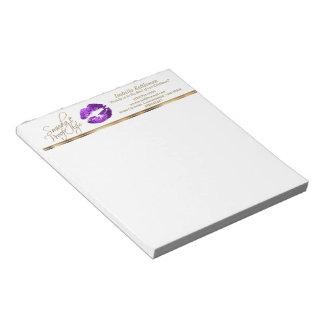 紫色のグリッターの唇 ノートパッド