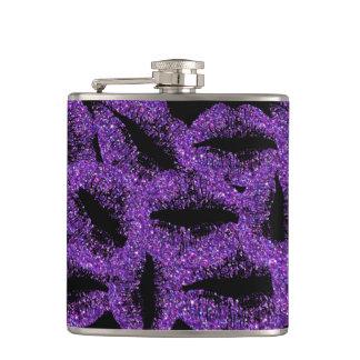 紫色のグリッターの唇#2 フラスク