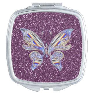 紫色のグリッターの抽象的でスタイリッシュな蝶